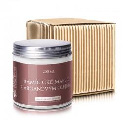 Bambucké  máslo s arganovým olejom a vitamínom E, 200 ml